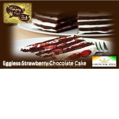 CHOCOLATE & STRAWBERRY CAKE EGGLESS 1KG