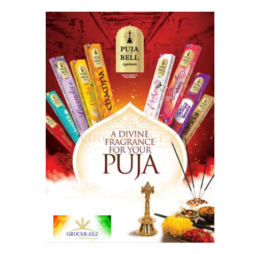 3 IN 1 INCENSE STICKS 20G PUJA BELL