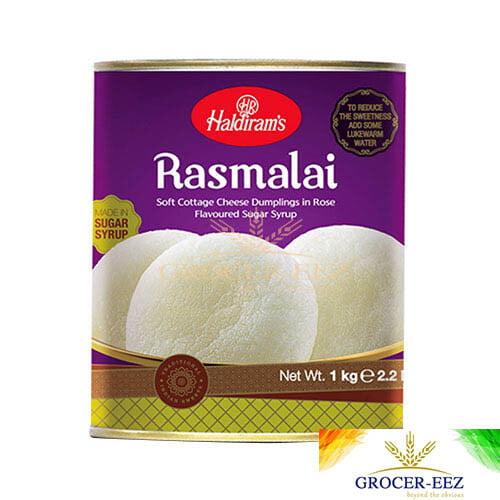 RASMALAI 1KG TIN HALDIRAM'S DELHI