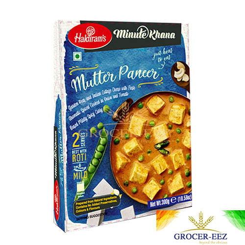 MUTTER PANEER RTE 300G HALDIRAM'S DELHI