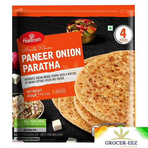PARATHA PANEER ONION 4PCS HALDIRAM'S DELHI