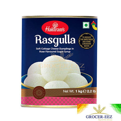 RASGULLA TIN 1KG HALDIRAM'S DELHI